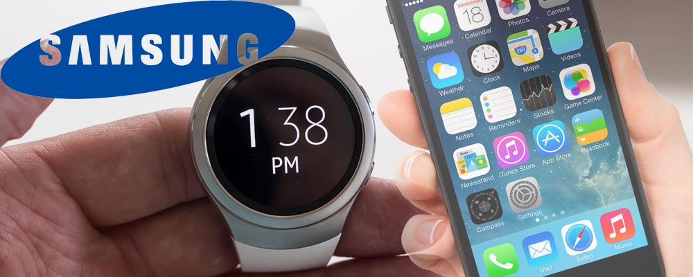 Samsung Gear S2 smart watch with iPhone