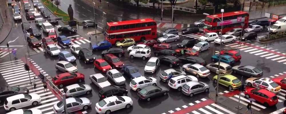 Traffic jam intersection