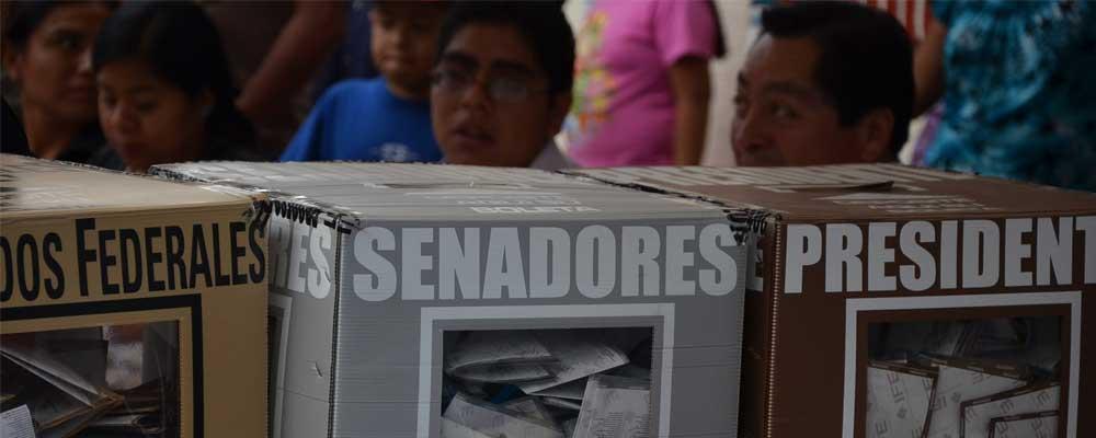 Mexican ballot boxes