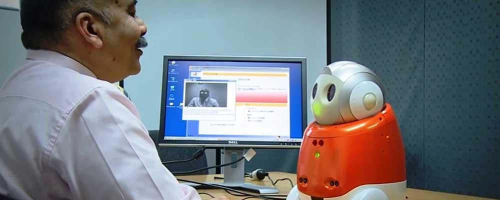 La Trobe University Professor Rajiv Khosla with Matilda